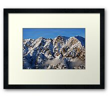 Sunset at mountains from summit of Snowbird ski resort in Utah Framed Print