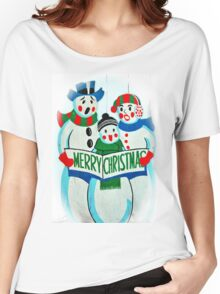 Singing Snowman Family Women's Relaxed Fit T-Shirt