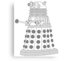 ASCII Dalek Canvas Print