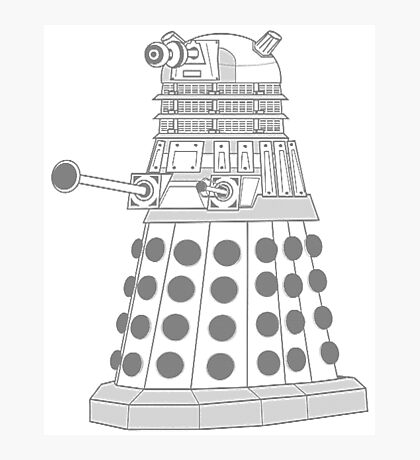 ASCII Dalek Photographic Print