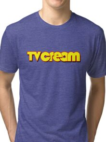 The ever-lovin' TV Cream logo Tri-blend T-Shirt
