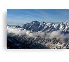 Mountains from summit of Snowbird ski resort in Utah Canvas Print