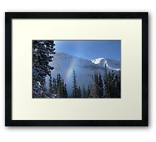 Winter rainbow at Alta ski resort, Utah Framed Print
