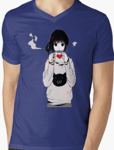 kawaii Mens V-Neck T-Shirt