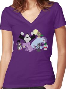 Arkham Zoo Women's Fitted V-Neck T-Shirt
