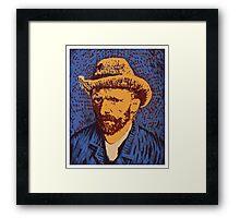 Vincent Van Gogh portrait Framed Print