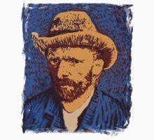 Vincent Van Gogh portrait One Piece - Short Sleeve
