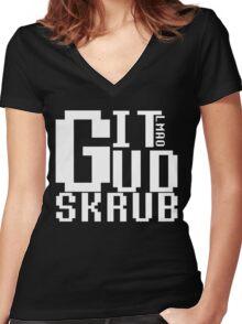 Git Gud Women's Fitted V-Neck T-Shirt