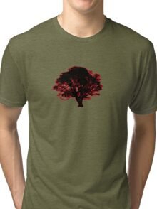red and black tree retro truck stop tee  Tri-blend T-Shirt