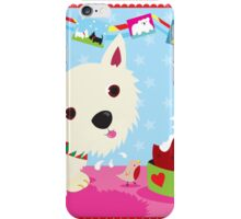 Westie and Christmas Pudding iPhone Case/Skin