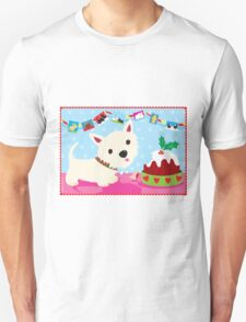 Westie and Christmas Pudding Unisex T-Shirt