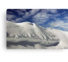 On the top of the World - Snow and Sky Canvas Print