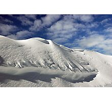 On the top of the World - Snow and Sky Photographic Print