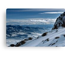 On the top of the World - Snowbasin Ski Slopes Canvas Print