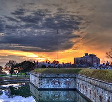 Sunset Over the Moat by Darryl Krauch
