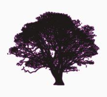 purple and black tree retro truck stop tee   Kids Tee