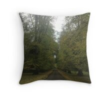 Drive through the trees Throw Pillow