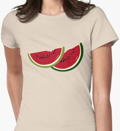 Watermelon slices Womens Fitted T-Shirt