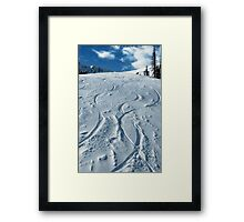 First ski tracks at Snobasin, Utah Framed Print