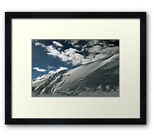 On the top of the World - Snow and Sky II Framed Print