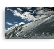 On the top of the World - Snow and Sky II Canvas Print