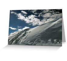 On the top of the World - Snow and Sky II Greeting Card