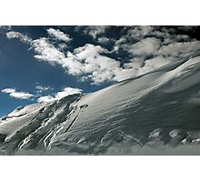 On the top of the World - Snow and Sky II Photographic Print