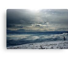 On the top of the World - Snow and Sky III Canvas Print