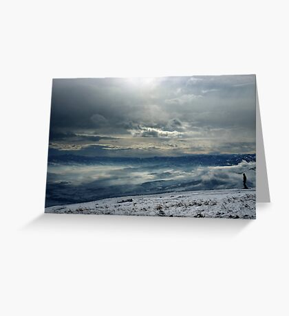 On the top of the World - Snow and Sky III Greeting Card