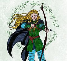 Legolas Card by ChrisNeal