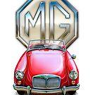 MGA Sportscar Print by davidkyte