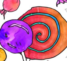Colorful Watercolor Hand Drawn Candy Pattern Sticker