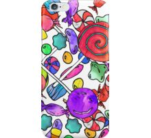 Colorful Watercolor Hand Drawn Candy Pattern iPhone Case/Skin