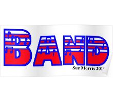 Band Red White & Blue Poster