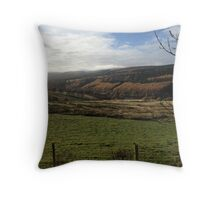 Goyte Valley, Derbyshire Throw Pillow