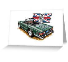 Classic Triumph TR-6 sports car Greeting Card