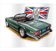 Classic Triumph TR-6 sports car Poster