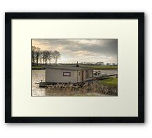 doesnt look like a boat, but it is a boat Framed Print