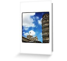 Square of Miracles and the Leaning Tower of Pisa Greeting Card