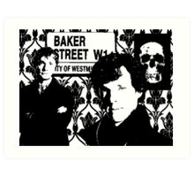 Sherlock silhouette Art Print