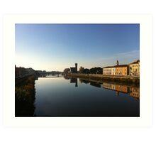 The Arno river, Pisa, Italy Art Print