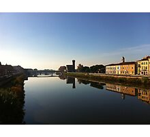 The Arno river, Pisa, Italy Photographic Print