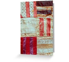 Aged Silk Quilt Greeting Card