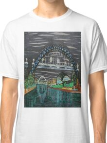 Tyne Quayside at night Classic T-Shirt