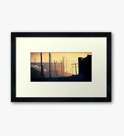 Nalaikh hazy sunset Framed Print