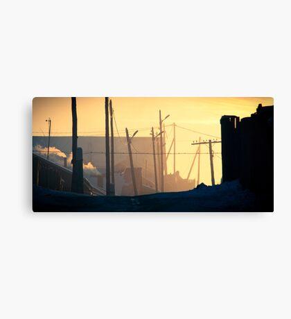 Nalaikh hazy sunset Canvas Print