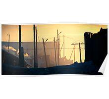 Nalaikh hazy sunset Poster