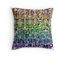 Mega Man Robot Masters Rainbow Throw Pillow