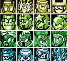 Mega Man Robot Masters Rainbow Sticker