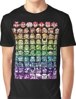 Mega Man Robot Masters Rainbow Graphic T-Shirt